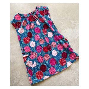 Tea Collection floral corduroy shift dress